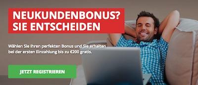 Intertops Bonus für Neukunden