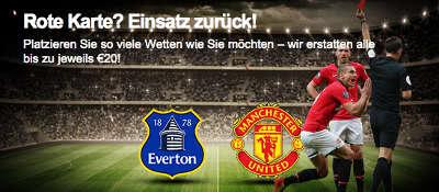20 Euro Bonus zum Spiel Everton vs Manchester United