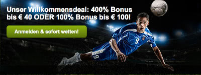 ComeOn Bonus - 400% bis 40 Euro holen