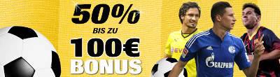 Interwetten Einzahlungsbonus bis 100 Euro