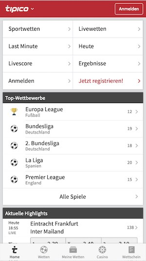 Tipico sportwetten app android download