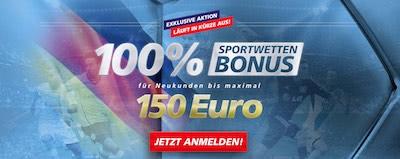 Sportingbet Bonus für Neukunden bis 150 €