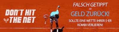 Betvictor Cashback Bonus auf Tennis Kombiwetten