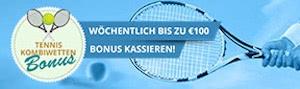 Sportingbet Bonus Angebot auf Tennis Kombiwetten