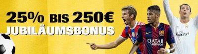 Interwetten Reload Bonus 250 Euro