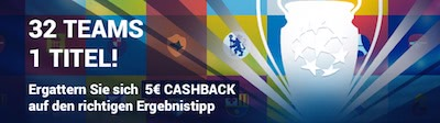 Tonybet Champions League Cashback Bonus