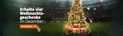 Betsson Weihnachtsbonus und VIP Tickets
