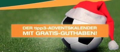 tipp3 Adventskalender 24 Euro Gutschein
