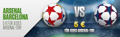 Netbet Bonus zum Spiel Arsenal vs Barcelona