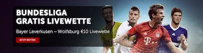 Betsafe Gratis Livewette Leverkusen gegen Wolfsburg
