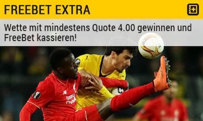Bwin Freebet Extra bei Liverpool gegen Dortmund
