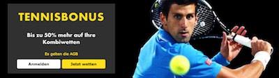 Bet365 Bonus auf Tennis Kombiwetten