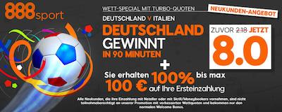 888sport EM Aktion zum Viertelfinale Deutschland vs Italien