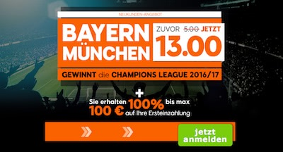 888sport Quotenangebot zur Champions League