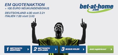 Bet-at-home EM Bonus Deutschland vs Italien
