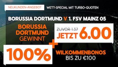 888sport Quotenangebot Dortmund gewinnt