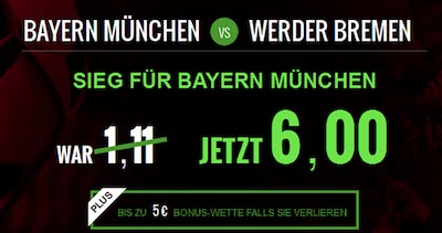 Netbet Quotenboost Bayern Werder