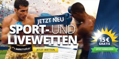Sunmaker Sportwetten Bonus bis 15 Euro