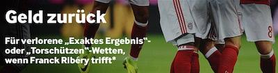 Betway Cashback Angebot wenn Ribery trifft