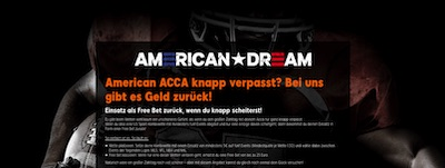 888sport American Dream - Kombiwetten Bonus