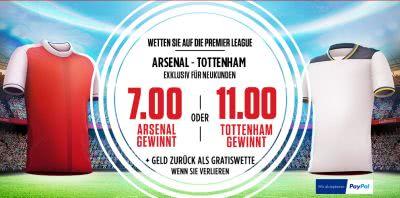 Ladbrokes Preisboost Arsenal vs. Tottenham 6.11.16