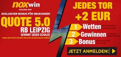 Noxwin Quotenbonus Leipzig vs Schalke
