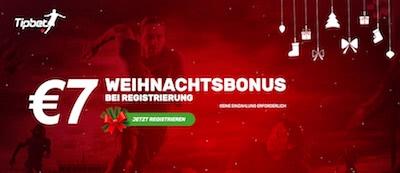 Tipbet mit 7 Euro Weihnachtsbonus