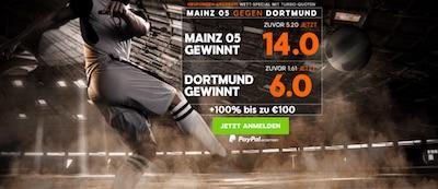 888preisboost Mainz05 gegen Dortmund