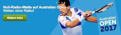 ComeOn Wette ohne Risiko Australian Open