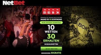 Netbet Neukundenbonus Mainz vs Dortmund