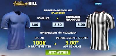 William Hill Aktion zum BL Spiel Schalke - Frankfurt
