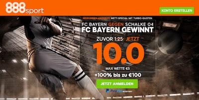 888sport Quotenboost Bayern vs Schalke