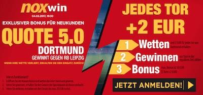 Noxwin Quotenboost BVB gegen RBL