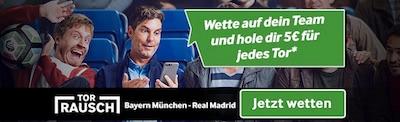 Betway Torbonus zum CL Spiel Bayern vs Real