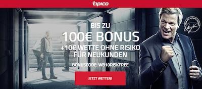 Tipico Gutschein - 10€ gratis wetten