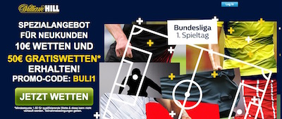William Hill Bundesliga Gratiswetten