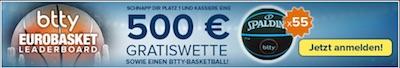 Basketball-EM Promotion bei Btty