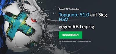 Betvictor Quotenaktion HSV gegen Leipzig