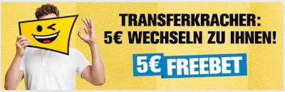 Interwetten 5 Euro Freiwette