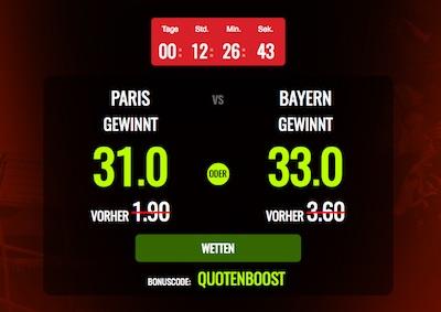 Paris Saint Germain - Bayern Muenchen bei Netbet