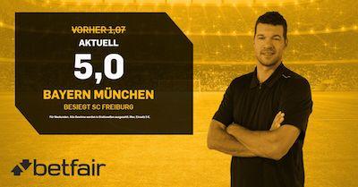 Betfair Quotenboost Bayern gewinnt gegen Freiburg