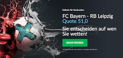 Betvictor Quotenbonus zu Bayern vs Leipzig
