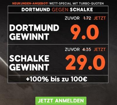 BVB Schalke Quotenboost bei 888sport