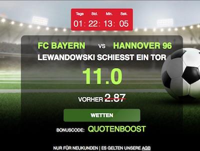 Netbet Boost Bayern München gegen Hannover 96