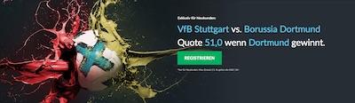 Betvictor Quotenboost VfB gegen BVB