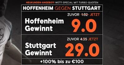 888sport Quotenboost zu Hoffenheim gegen Stuttgart