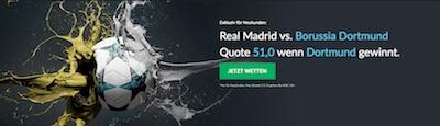 Real Madrid gegen Borussia Dortmund  Quotenboost bei Betvictor