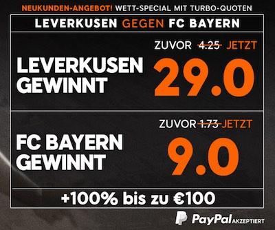 888sport Topquoten Leverkusen vs Bayern