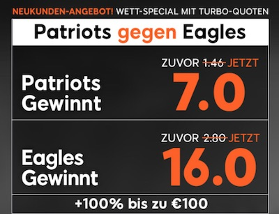 888sport Quotenboost zum 52. Super Bowl