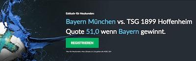 Betvictor Quotenboost zu Bayern München gegen Hoffenheim